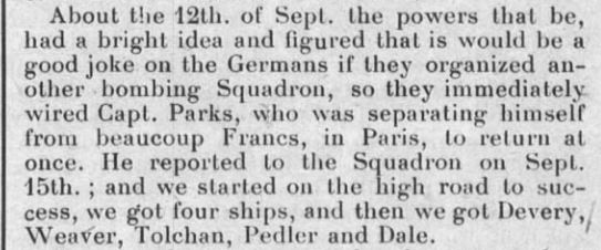 Clipping from a newsletter about the 166th.