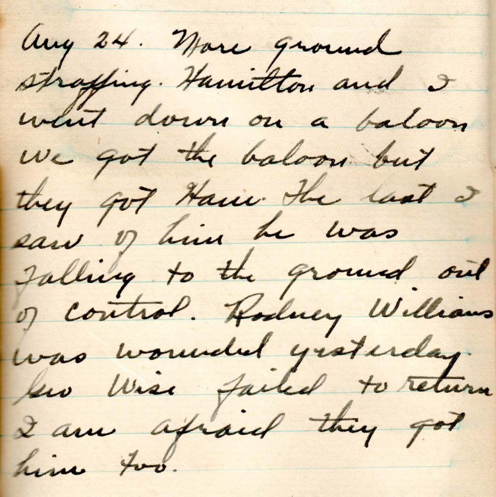 A handwritten diary entry.