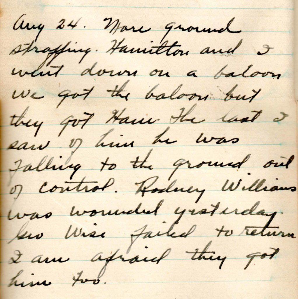 A handwritten diary entry.