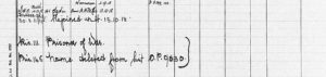 From Barksdale's R.A.F. service record, portion of a printed form with handwritten notations.