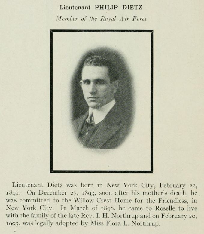 A page from a book, showing a photo of Dietz with some biographical information.