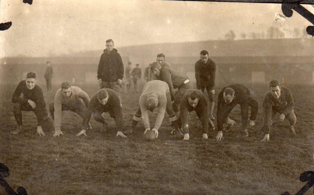 A football team ready to play.